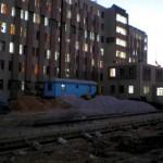 Großes gebaue vor unserem Wohnheim