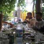 Traditionelle syrische Vorspeise, arabisch Brot mit Dip
