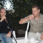 Tilo und Niklas auf der Terrasse