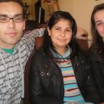 Iman, Lyn und ich bim Eisessen