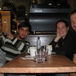 Aala, Antje, Niklas und ich beim Franzose